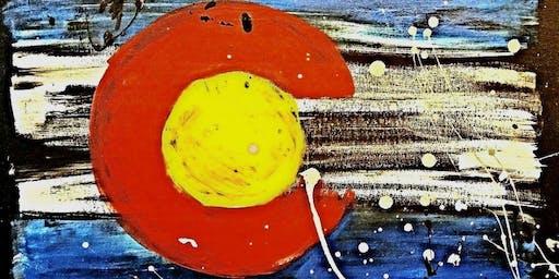 Paint Wine Denver CO Splattered Flag Sat Nov 23rd 7pm $40