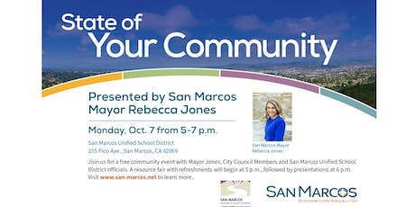 State of Your Community  - Presented by San Marcos Mayor Rebecca Jones tickets