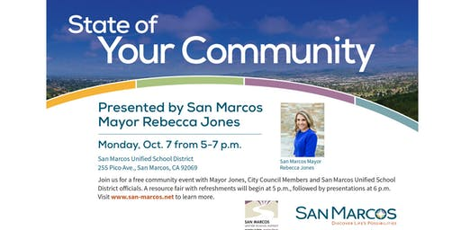 State of Your Community  - Presented by San Marcos Mayor Rebecca Jones