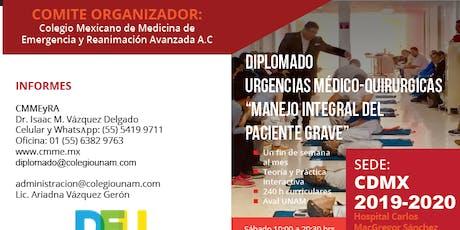 DIPLOMADO URGENCIAS MEDICO QUIRURGICAS CDMX entradas