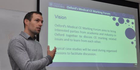 Oxford Medical CE Marking Forum - Interactive (Virtual) online Seminar Sep 2019 tickets