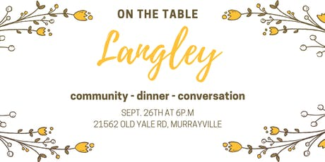 On the Table Langley tickets