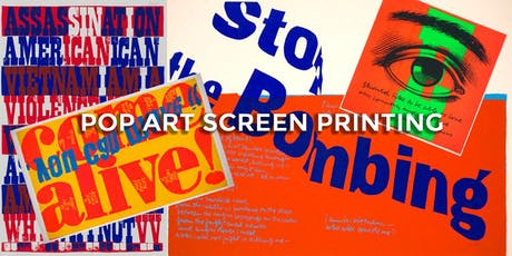 POP ART Screen Printing tickets