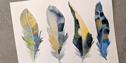 Watercolor Feather Workshop