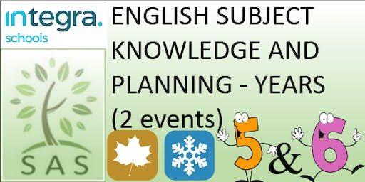 English - Subject Knowledge and Planning in Y5/6 (2 session course)