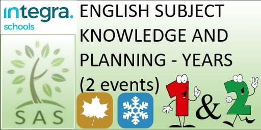 English - Subject Knowledge and Planning in Y1/2 (2 session course)