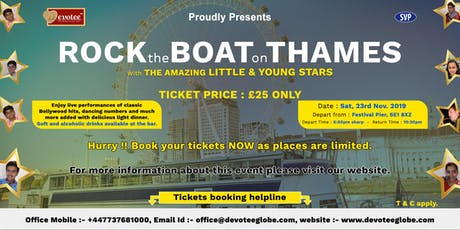 Rock the Boat on Thames tickets