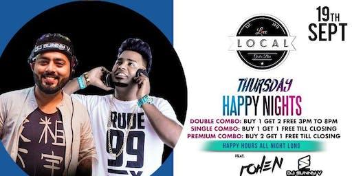 Thursday Happy Night - Dj Rohen & Dj Sunny V