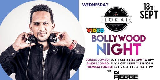 Wednesday Video Bollywood Night - Dj Regge