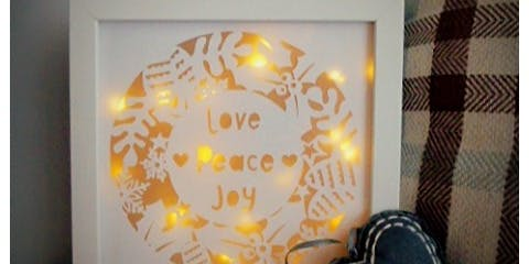 Papercut Light-Up Wreath