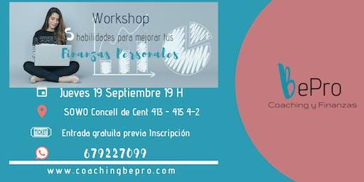 Workshop Las Cinco Habilidades para Mejorar tus Finanzas Personales