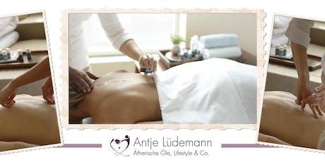 Raindrop Technique® Basis Kurs mit Antje Lüdemann: Eine Wellness-Massage mit außergewöhnlichen Ergebnissen Tickets