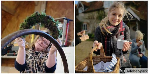 Christmas Wreath Workshop retreats at The lone barn