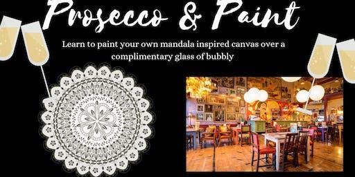 Prosecco and Paint- Mandala Art