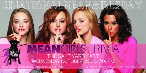 National Mean Girls Day Trivia at The Salt Yard East