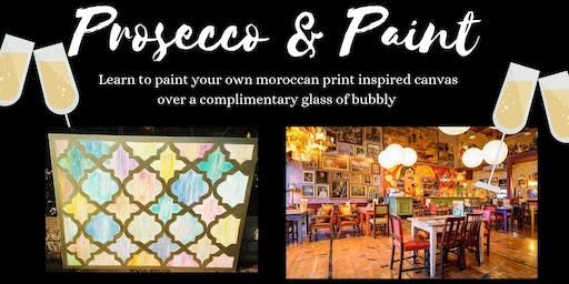 Prosecco and Paint- Moroccan prints