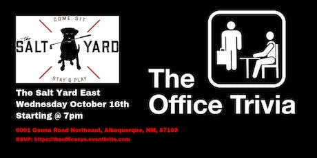 The Office Trivia at The Salt Yard East tickets