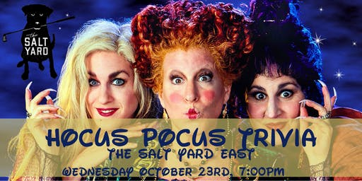 Hocus Pocus Trivia at The Salt Yard East