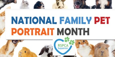 PHOTOGRAPHERS: National Family Pet Portrait Month October 2019