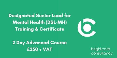 Designated Senior Lead for Mental Health (DSL-MH) Training & Certificate 2 Day Advanced Course: Birmingham tickets