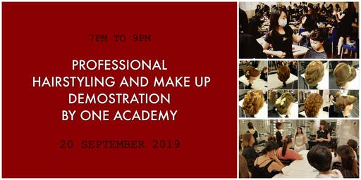 FREE PROFESSIONAL HAIR STYLING AND MAKE UP PREVIEW BY ONE ACADEMY