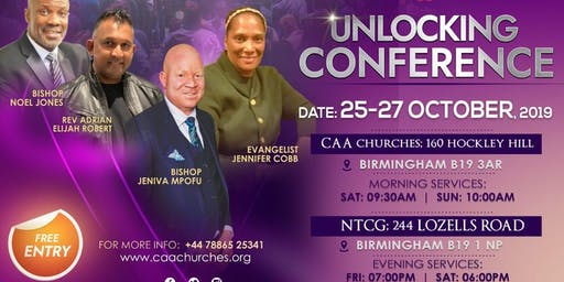 CAA Churches (UK) UNLOCKING CONFERENCE with Bishop Noel Jones