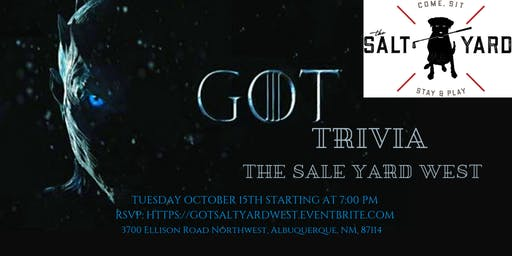 Game of Thrones Trivia at The Salt Yard West