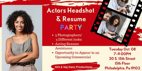 Actors Headshot &  Resume Party tickets