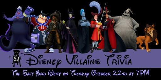 Disney Villains Trivia at The Salt Yard West