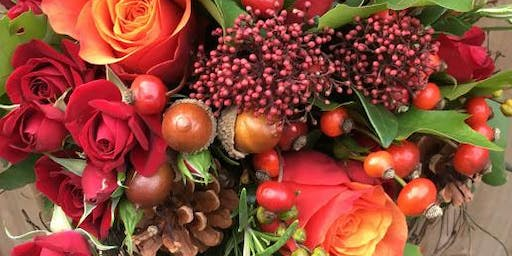 Autumn hand tied bouquet workshop