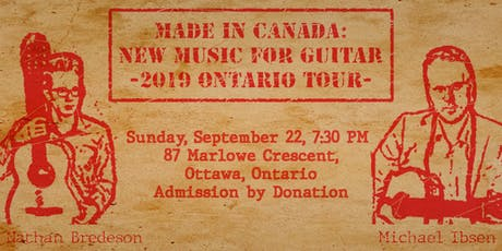 Made in Canada: New Music for Guitar tickets