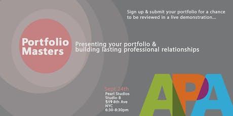 Portfolio Masters: Present Your Portfolio & Build Lasting Relationships tickets