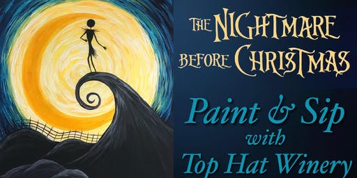 Starry Night Nightmare Before Christmas Paint & Sip