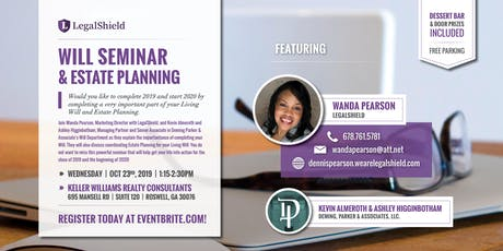 WILL SEMINAR AND ESTATE PLANNING - IS YOUR LIFE IN ORDER FOR 2019 tickets