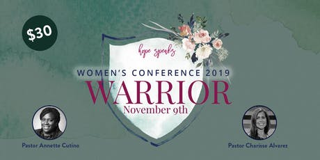 Hope Speaks Women's Conference 2019- Warrior tickets