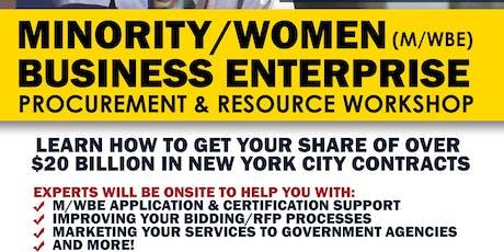 Minority & Women Business Enterprise M/WBE Procurement & Resource Workshop tickets