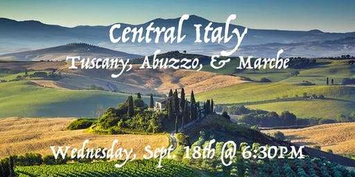 Tasting Table Event: Focus on Central Italy (Tasting & Seminar)