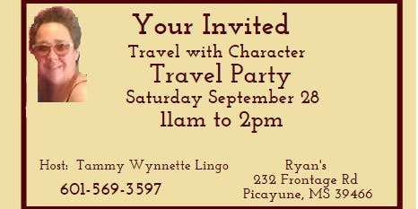 Travel With Character Travel Party