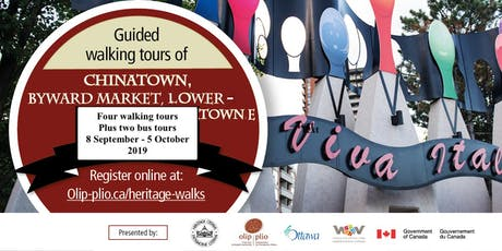 Walking Tour English, Lowertown East /Tournée pédestre-anglais, Basse-Ville tickets