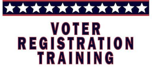 Voter Registration Training at Carver School Rd Library