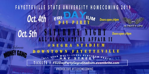 FSU Homecoming Day Party & Saturday Night Party @ SEGRA STADIUM