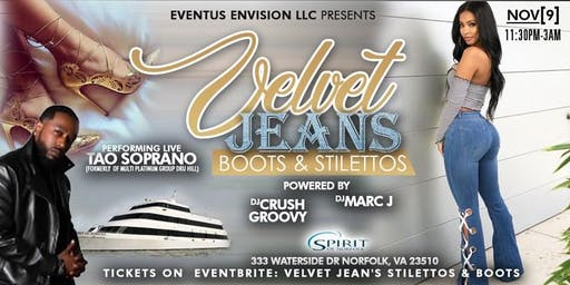Velvet, Jeans, Boots, Stilettos