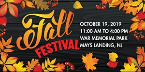 Mays Landing's 2019 Fall Festival - Vendor Registration