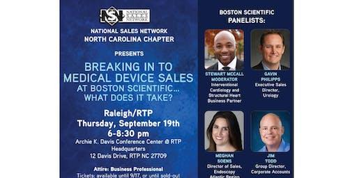 NSN NC [Raleigh] + Boston Scientific, Medical Device Sales Careers