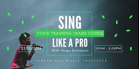Voice Training Crash Course tickets
