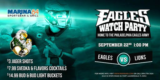 Eagles Watch Party - Eagles vs Lions