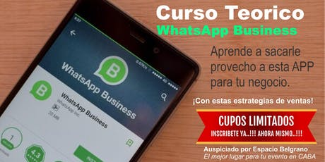 WhatsApp Business entradas