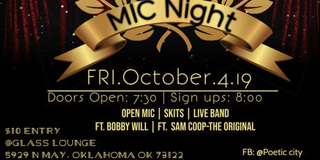 Poetic City Mic Night Ft. Bobby Will and Sam Cooper-The OriGinal tickets