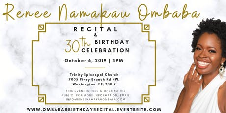 Renee Namakau Ombaba: Recital and 30th Birthday Celebration tickets