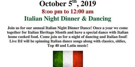 Italian Night Dance tickets